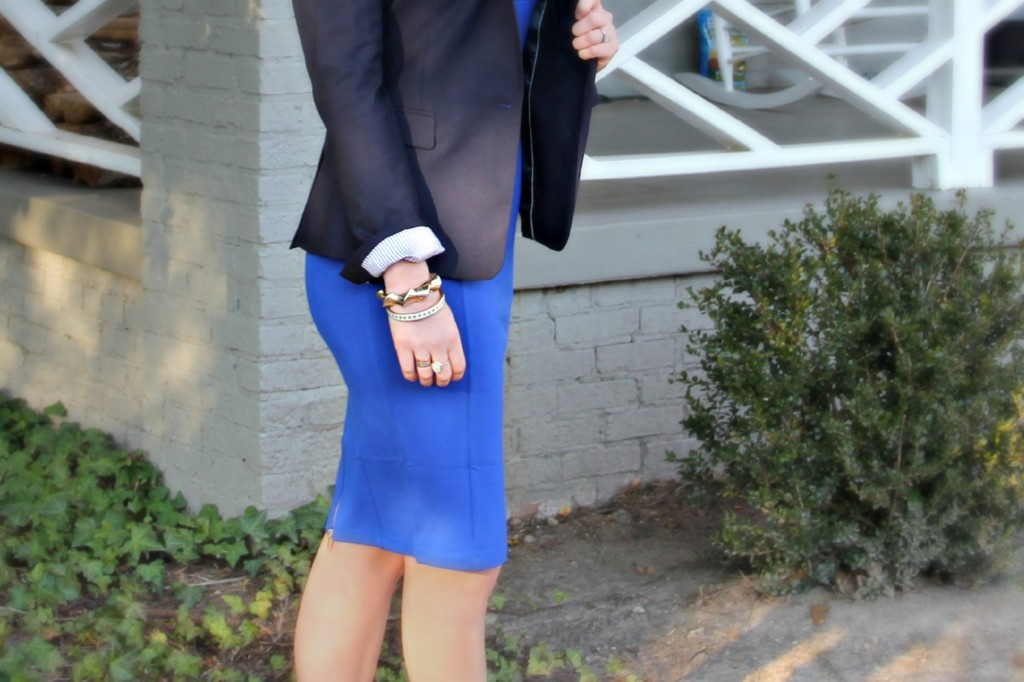 Blue Blazer Gold Accessories
