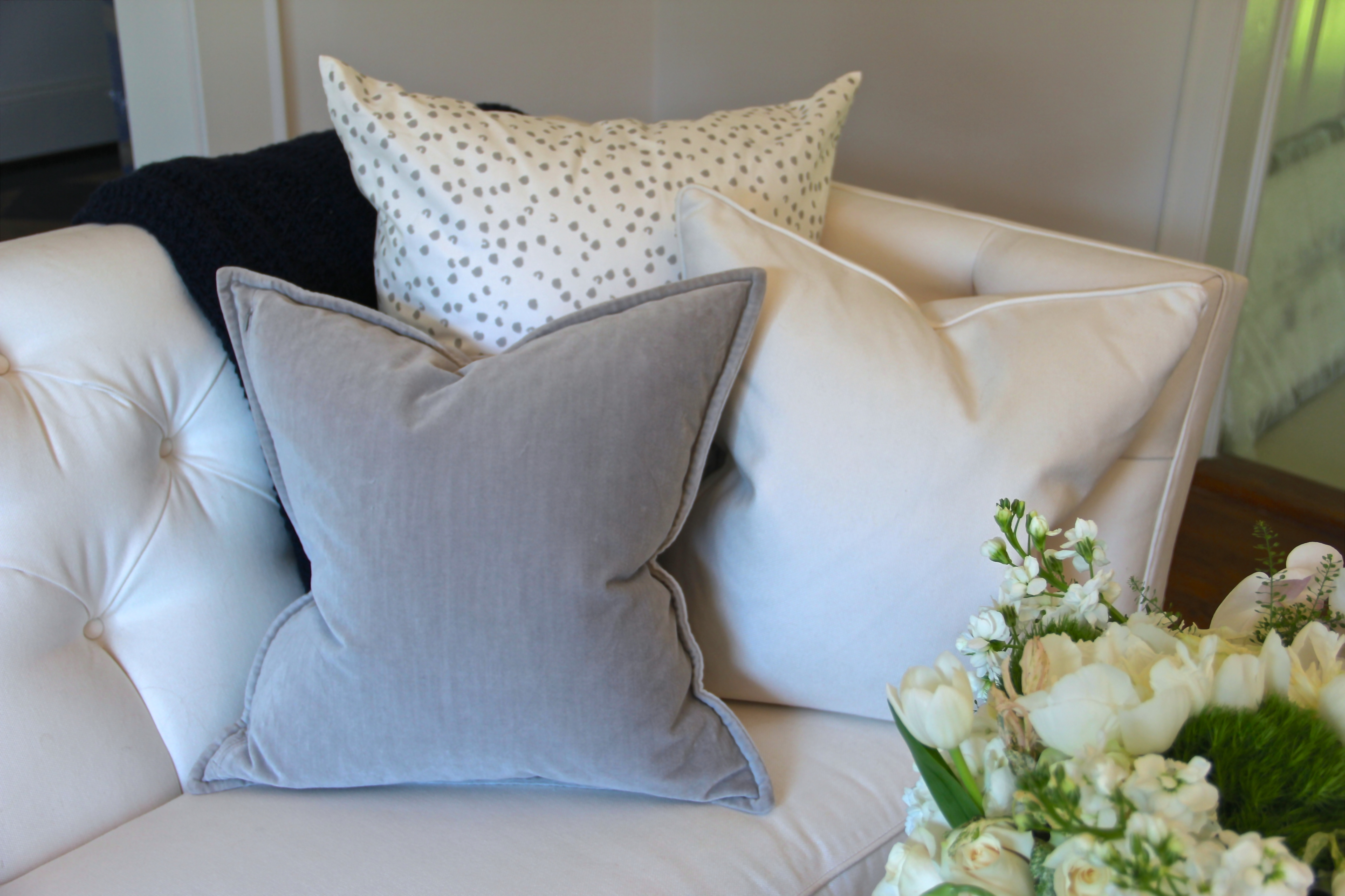 custom gray and white pillows from minted online. Black Bedroom Furniture Sets. Home Design Ideas
